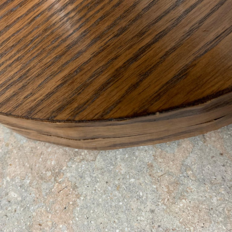 Pair of 20th Century Art Deco Oak and Glass Side or End Tables, France, 1930s For Sale 7