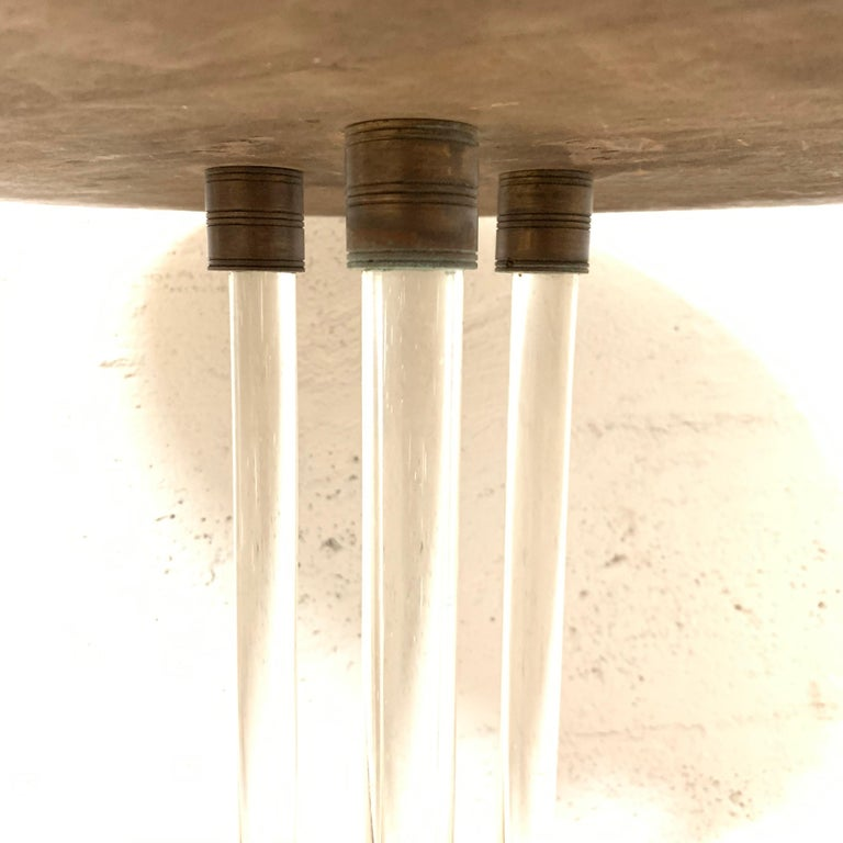 Pair of 20th Century Art Deco Oak and Glass Side or End Tables, France, 1930s For Sale 2