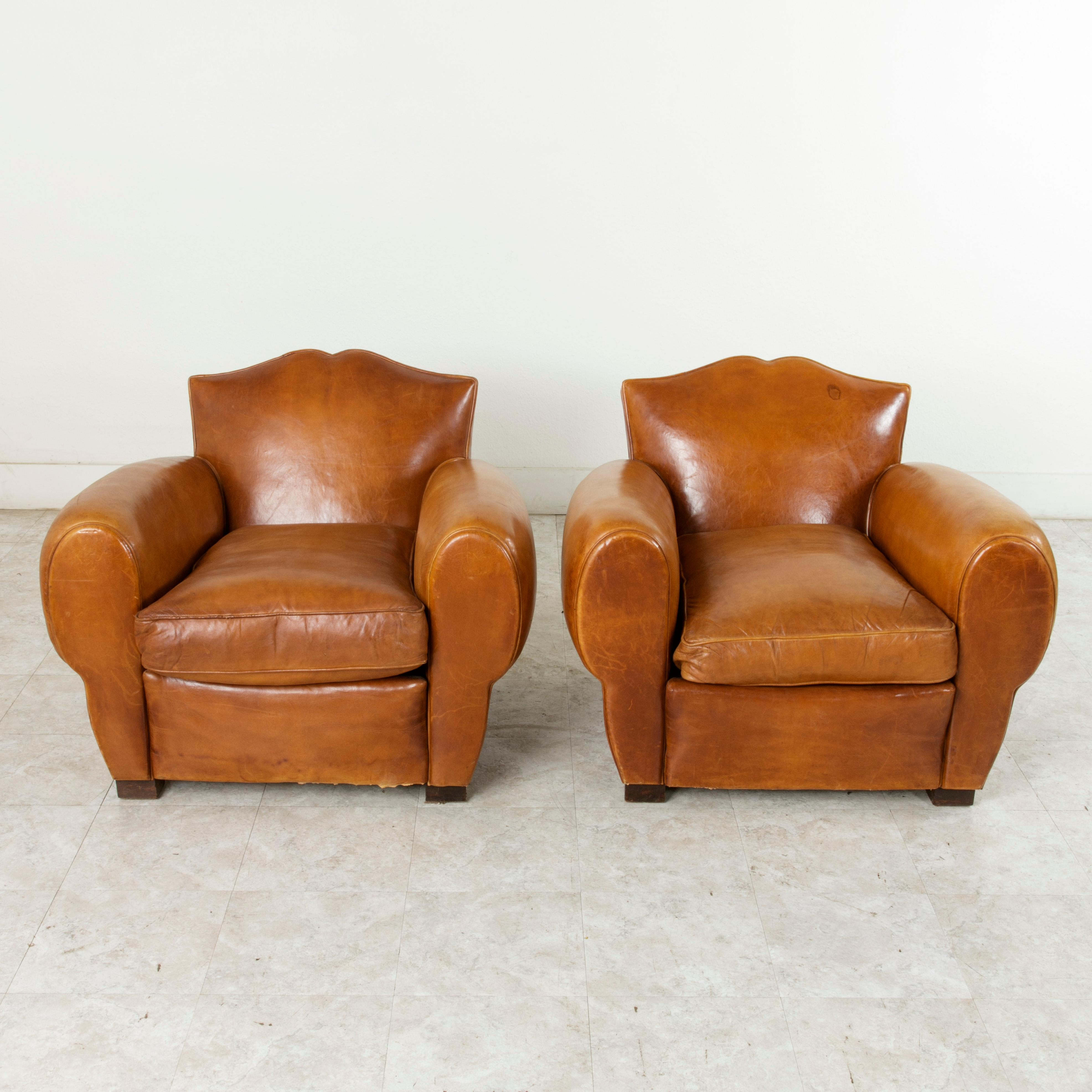 Art deco period furniture Roaring Twenties This Pair Of Mid20th Century French Art Deco Period Moustache Back Club Chairs Are 1stdibs Pair Of French Art Deco Period Leather Moustache Club Chairs Circa