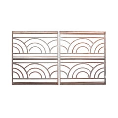 Pair of French Art Deco Period Wrought Iron Gates