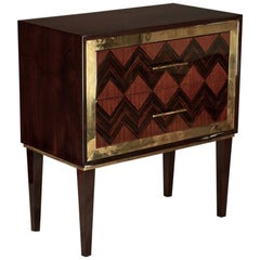 Pair of French Art Deco Side Tables in Walnut
