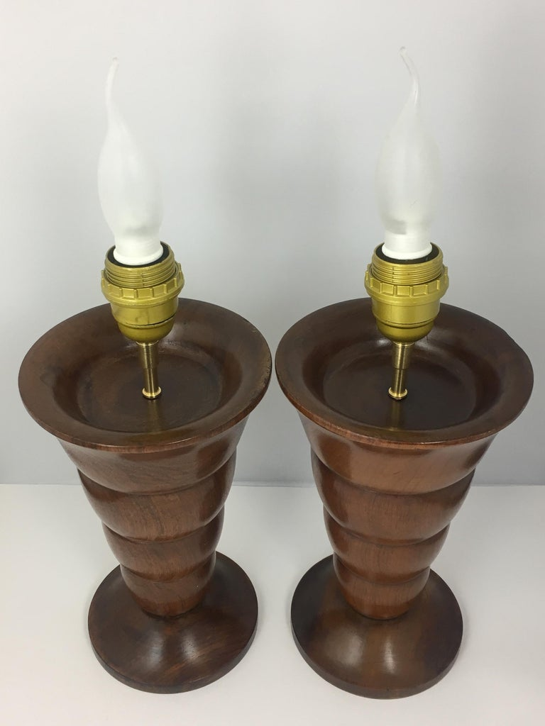 Pair of French Art Deco Table Lamps In Good Condition For Sale In Arles, FR