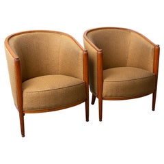 Pair of French Art Deco Tub Chairs