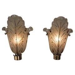 Pair of French Art Deco Wall Sconces by Ezan