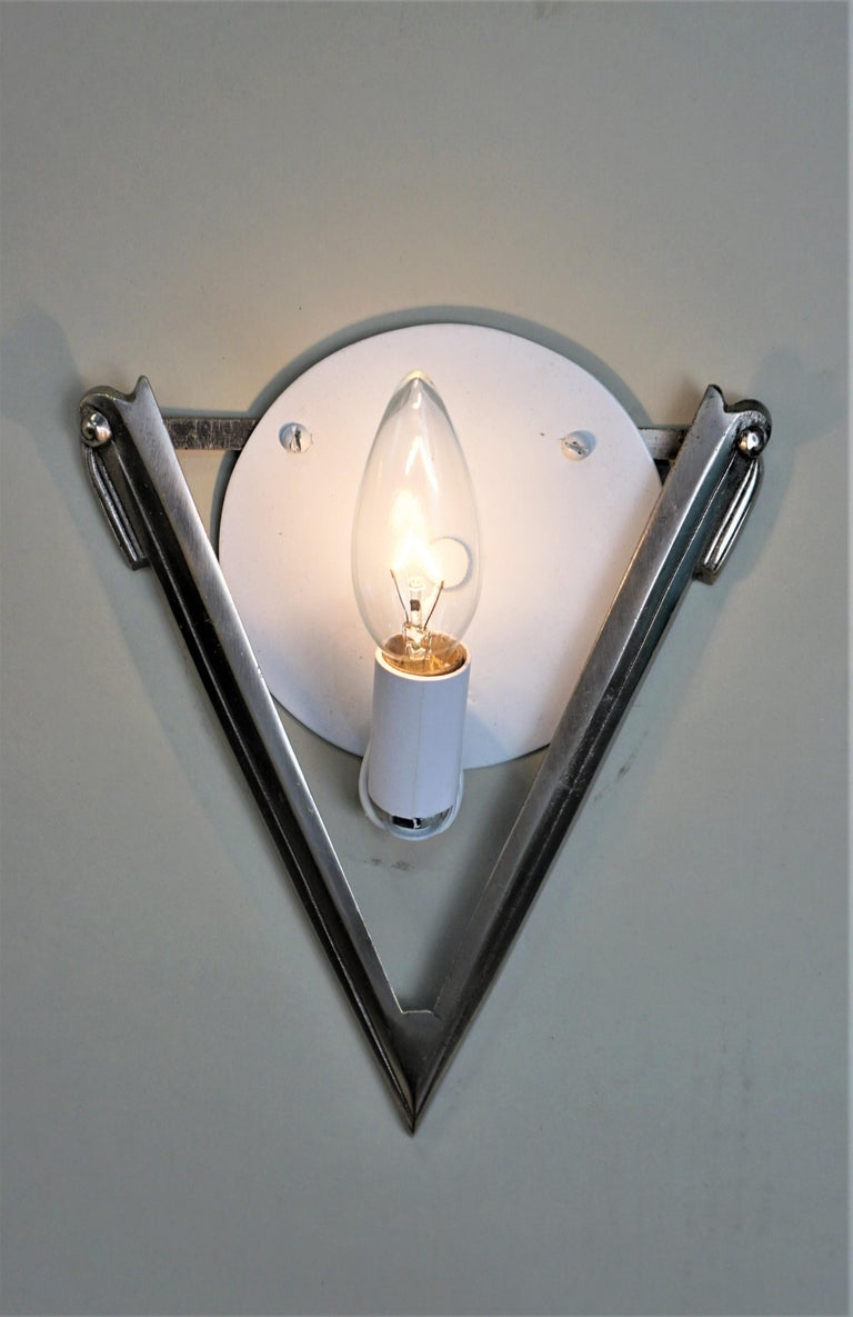 Glass Pair of French Art Deco Wall Sconces Signed by Degué For Sale