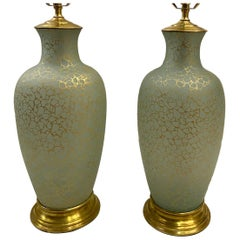 Pair of French Art Glass Table Lamps