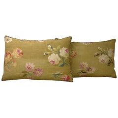Pair of French Aubusson Pillows, circa 1860 (1706p - 1707p) :  Y & B Bolour
