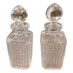 Pair of French Baccarat Cut Crystal Decanters, Early 20th Century