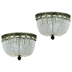 Pair of French Bag Chandeliers