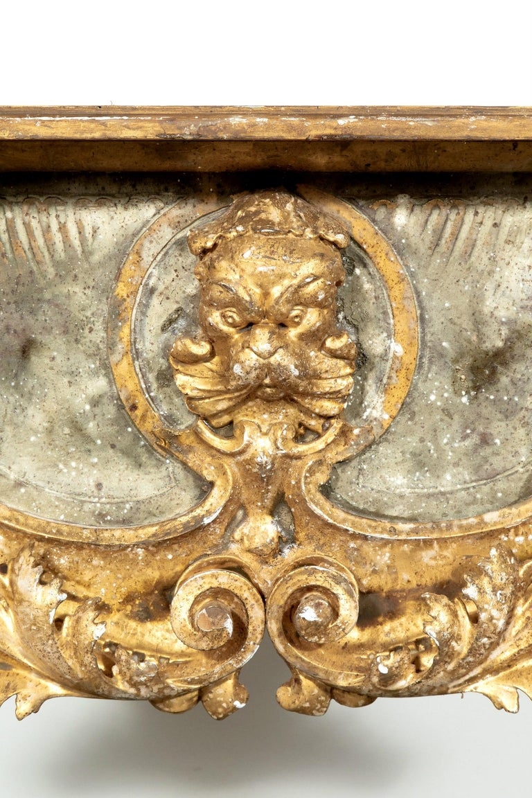 Contemporary French Baroque Style Painted and Parcel Gilt Fragment Console Tables (pr. avail) For Sale