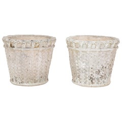 Pair of French Basket Weave Planters