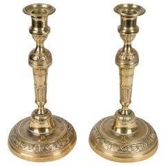 Ein Paar französische Messing Leuchter
