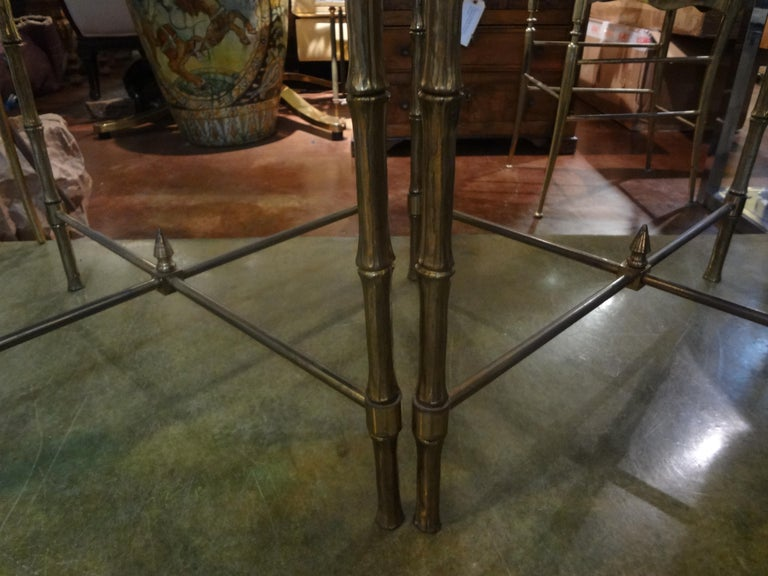 Pair of French Brass Tables in the Manner of Maison Jansen For Sale 1