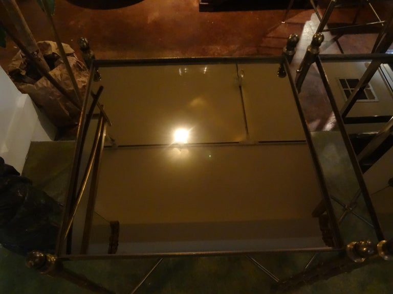 Pair of French Brass Tables in the Manner of Maison Jansen For Sale 3