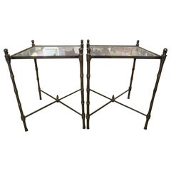 Pair of French Brass Tables in the Manner of Maison Jansen