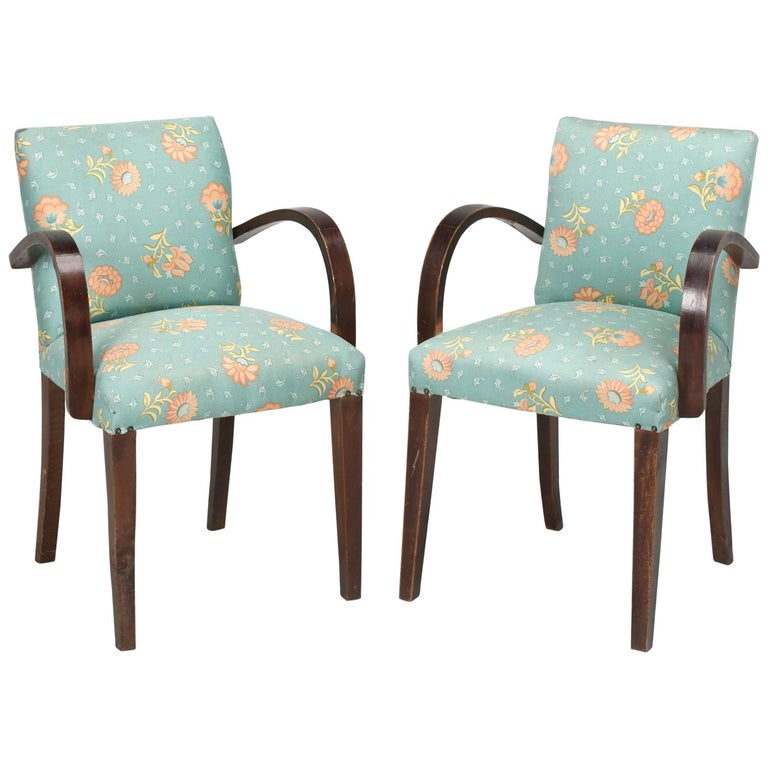 """Pair of French """"Bridge"""" Chairs, circa 1940s For Sale"""
