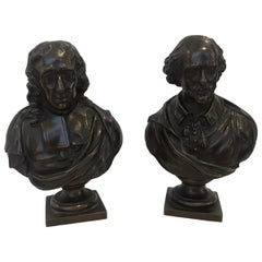 Pair of French Bronzes Signed F. Barbedienne