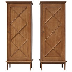 Pair of French Cabinets in Oak, 1960s