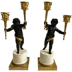Pair of French Candelabra, Late 18th Century