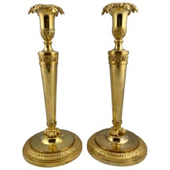 Pair of French Candlesticks, Made Year circa 1800