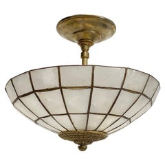 Pair of French Capiz Shell Light Fixtures, Sold Individually