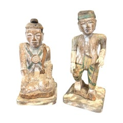 Pair of French Carved Painted Oriental Figures