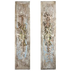 Pair of French Carved Panels with Musical Instruments, circa 1920s