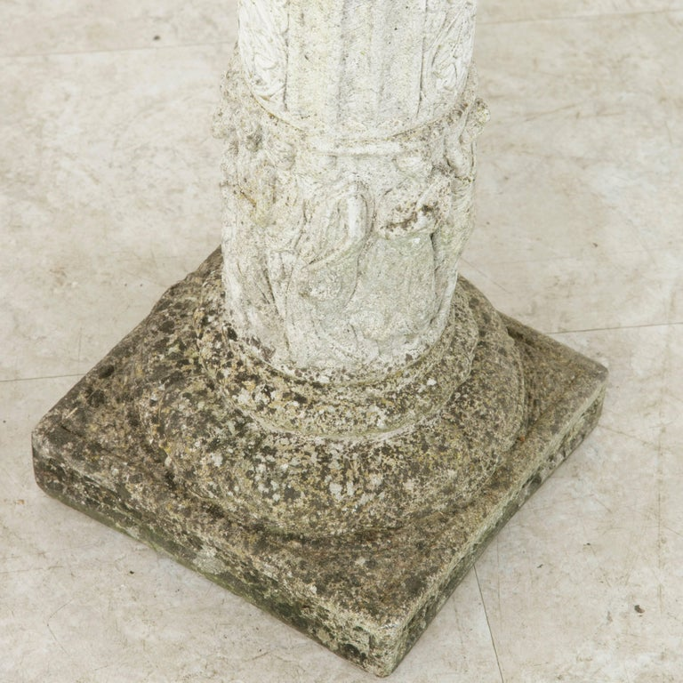 Pair of French Cast Stone Columns or Pillars from a Normandy Garden For Sale 4