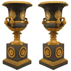 Pair of French Charles X Ormolu-Mounted Campagna Urns Set