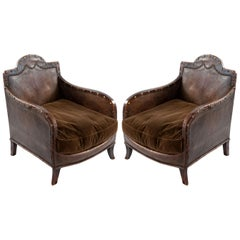 Pair of French Club Chairs, circa 1910