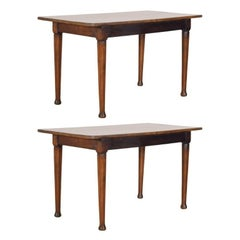 Pair of French Console/Centre Tables with Tapering Octagonal Legs, 19th Century