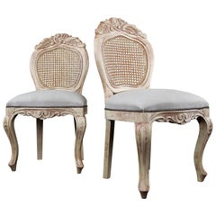 Pair of French Country Side Chairs