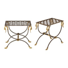 """Pair of French """"Curule"""" Stools"""