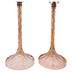 Pair of French Cut Crystal Lamps