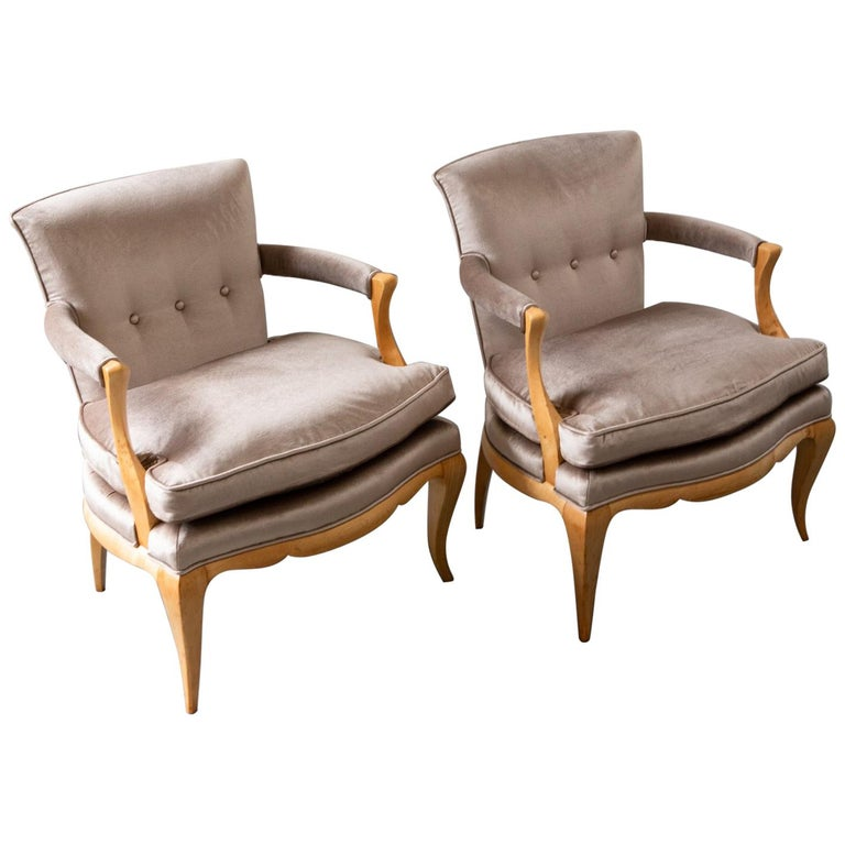 Pair of French Deco Armchairs For Sale