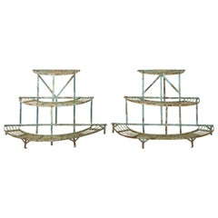 Pair of French Demilune Conservatory Stands