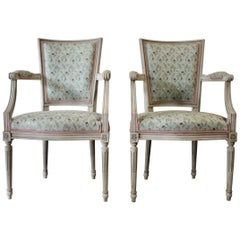 Pair of French Directoire St. Armchairs