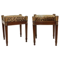 Pair of French Directoire Stools