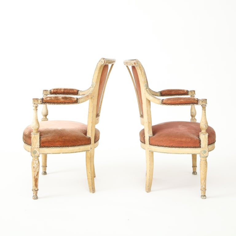 Pair of French Directoire Style Armchairs For Sale 8