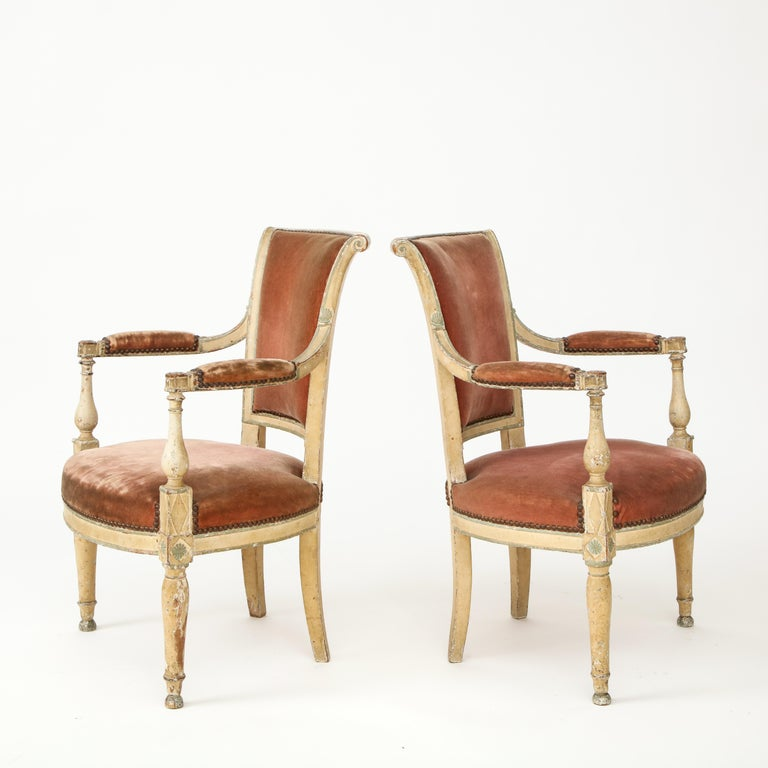 Pair of French Directoire Style Armchairs For Sale 9