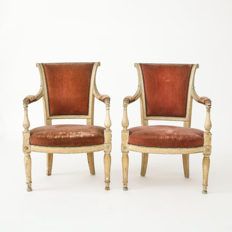 Pair of French Directoire Style Armchairs For Sale 10