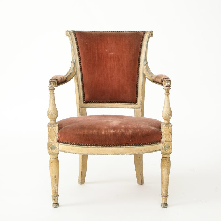 Pair of French Directoire Style Armchairs For Sale 11