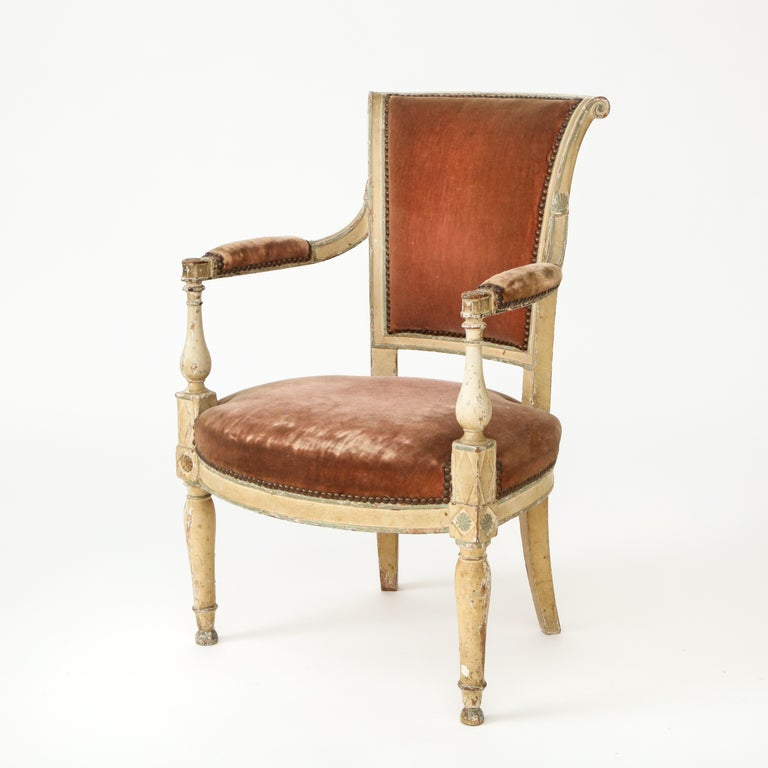 Pair of French Directoire Style Armchairs For Sale 3