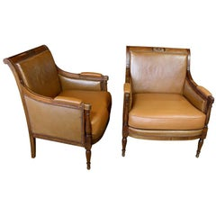Pair of French Directoire Style Armchairs