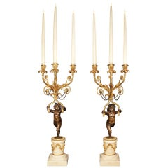 Pair Of French Early 19th Century Louis XVI St. Candelabras