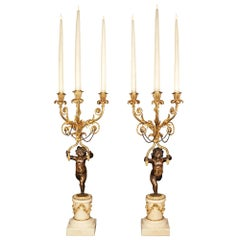 Pair of French Early 19th Century Louis XVI Style Candelabras