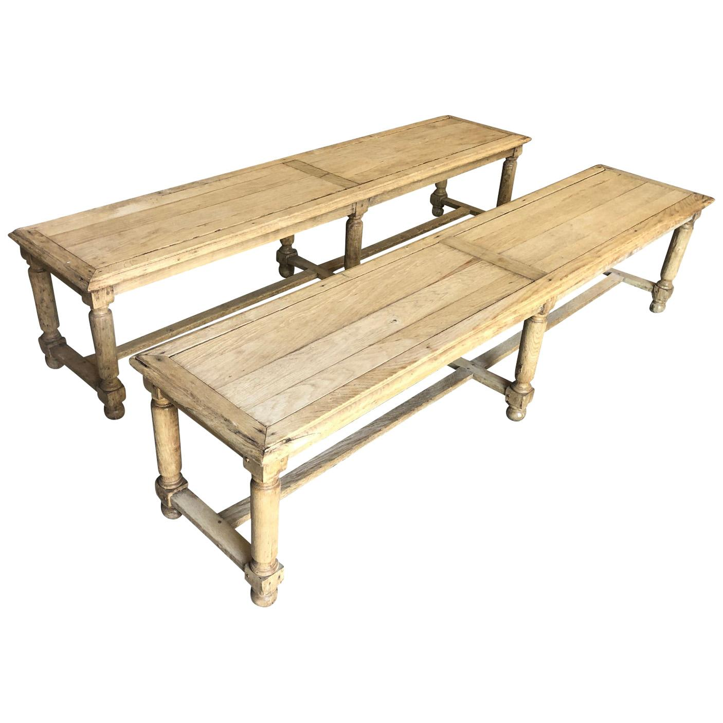 Pair of French Early 20th Century Benches