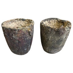 Pair of French Early 20th Century Foundry Pots, Crucibles