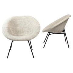 Pair of French Easy Chairs by Claude Vassal for Les Magasins Pilotes, Late 1950s