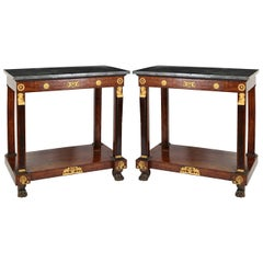 Pair of French Empire Consoles Tables, 1815